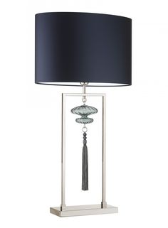 Constance Large Nickel Opal Jade Table Lamp - Heathfield & Co