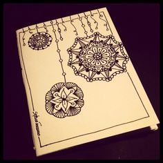 Illustrated notebook cover, zentangle design. Diy notebook A6. Quaderno #08