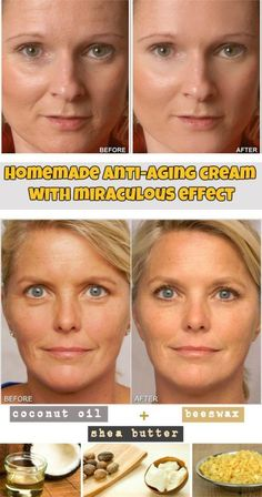 Learn how to make a homemade anti-aging cream with miraculous effect. #AntiAgingTips