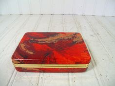 Vintage Hard Shell Travel Jewelry Case  Retro Red by DivineOrders, $14.00