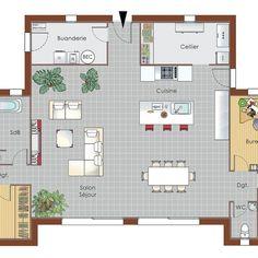 Plan maison meublé - Maison bois