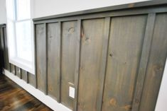 board and batten wainscoting   ... shot of the various stained hues of board and batten wainscoting