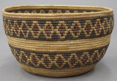 AMERICAN INDIAN BASKET yokuts polychrome diameter