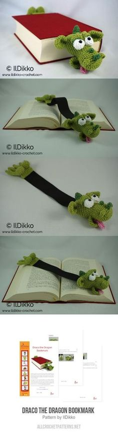 Draco The Dragon Bookmark Crochet Pattern