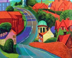 David Hockney Painting Pop Art | The Road to York| The Road to York through Sledmere, 1997 oil on canvas, 48x60 in. Description from pinterest.com. I searched for this on bing.com/images