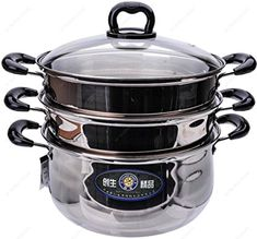 Trading Stainless Steel 3 Tiers Steamer Pot Steaming Cookware, from the most popular stores - all in one place.