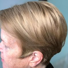 Sicily Blonde - Dark natural blonde hair color with hints of gold Undercut Hairstyles Women, Short Bob Hairstyles, Braided Hairstyles, Pixie Haircuts, Undercut Pixie, Short Straight Hair, Short Hair With Layers, Thick Hair, Medium Hair Styles