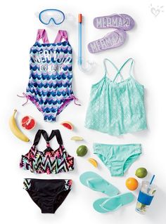 Bikini, tankini or one-piece? We have a swim style for every spring vacay adventure. Justice Girls Clothes, Girls Sports Clothes, Justice Clothing, Kids Outfits Girls, Cute Girl Outfits, Cute Outfits For Kids, Dance Outfits, Sport Outfits, Summer Outfits