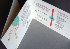 Tri-fold color invite with tear-off RSVP card.