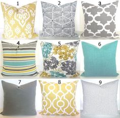 GET A WHOLE NEW LOOK JUST BY USING PILLOW COVERS! THE PILLOW COVERS CAN GO OVER A PILLOW INSERT OR YOUR EXISTING PILLOWS! Add a FRESH NEW DESIGNER LOOK to any room with this pillow cover made for any size of pillow. It features a gorgeous New Contemporary Floral pattern in