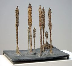 """Lot 34, """"La Forêt,"""" by Alberto Giacometti, painted bronze sculpture, 23 inches high, 1950"""