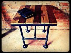 Industrial Pipe Table Possum Belly. $199.00, via Etsy.