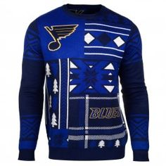 St. Louis Blues Patches Ugly Sweater (Blue)