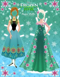 """Frozen Fever"" paper dolls from PaperDollsbyCory."