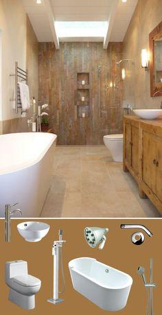 Wet n' Wild #Whitehaus #MoodBoardMonday #bath #walk-in #shower