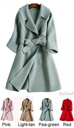 Fashion Double-sided Hand-sewn Tailored Collar Cashmere Woolen Coat Women Jacket for this winter #coat #women #jacket #collar #winter