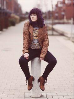 "BLOG ""Like A Riot"" - Western-Leder-Jacke von MAZE Fashion We love it!!! #perlepr #maze_fashion #likeariot #leather #summer #spring #ss2015"