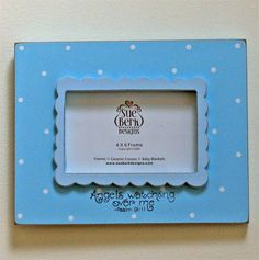 Angels are watching... Blue Photo Frame – ChristianGiftsPlace.com Online Store Baby Baptism Gifts, Christening Gifts, Baby Gifts, Baby Dedication, Christian Gifts, Personalized Jewelry, Favorite Color, Angels, Blue