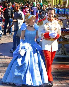 Princess Cinderella with her Prince Charming