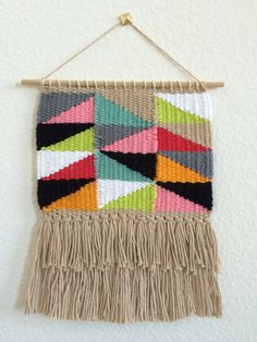 Woven Tapestry // Wall Hanging by SPECIALIKE on Etsy