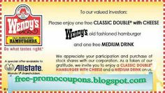 Wendys Coupons PROMO expires May 2020 Hurry up for a BIG SAVERS Wendy 's is a nationwide fast - food restaurant. Free Printable Coupons, Free Coupons, Print Coupons, Free Printables, Kfc Coupons, Pizza Hut Coupon Codes, Wendys Coupons, Jcpenney Coupons, Target Coupons