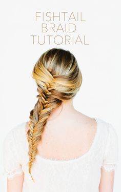 Try out a fishtail braid with your ouchless ribbon hair ties