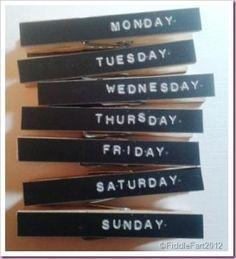 Creative idea: peg fridge magnets!   Fridge magnets
