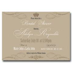 Bridal Shower Invitation - Vintage Royal with Ornaments