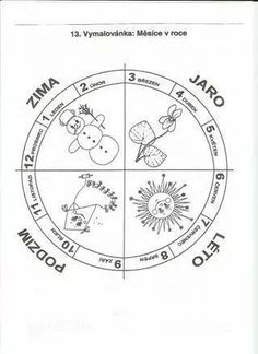 Month Weather, Weather For Kids, Seasons Of The Year, Four Seasons, Preschool Themes, Compass Tattoo, Teaching Kids, Worksheets, Coloring Pages