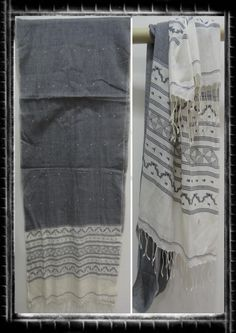 Handwoven Scarves in Jamdani