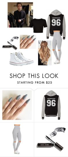 """""""Hemmings 96"""" by dancingdrawings ❤ liked on Polyvore featuring Converse, Bobbi Brown Cosmetics, Ted Baker, 5sos and lukehemmings"""