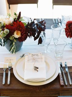 Old Hollywood vintage wedding tablescape, feather and twine wrapped menu, by Enjoy Events Co., captured by Cooper Carras Photography