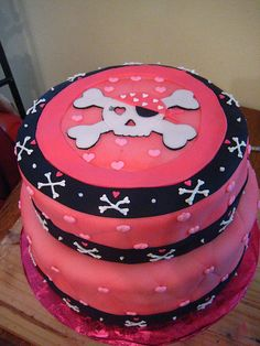 skull & crossbones cake