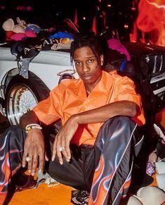 asap rocky and tyler the creator ; Orange Aesthetic, Bad Girl Aesthetic, Aesthetic Vintage, Prada Outfits, Lord Pretty Flacko, Mode Hip Hop, Parisian Girl, A$ap Rocky, Rap Wallpaper