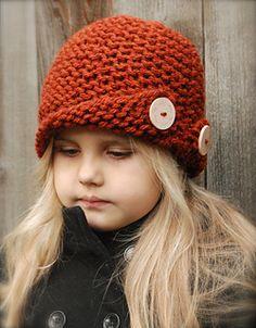 Rockford Cloche' Knitting pattern by The Velvet Acorn Knitting For Kids, Baby Knitting Patterns, Knitting Projects, Crochet Projects, Crochet Patterns, Bandeau Crochet, Knit Crochet, Crochet Hats, Velvet Acorn
