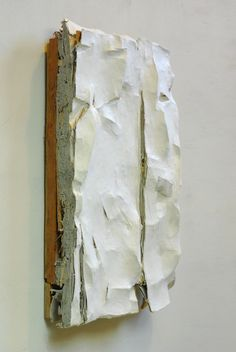 I-12, Wall sculpture,papier-maché, cardboard,wood, 20x43x7 cm. 2012, Leopold van de Ven