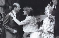 July 3, 1981: Lady Diana Spencer with the Duke and Duchess of Kent in the Royal box at Wimbledon.