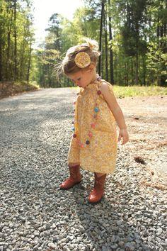 Susannah Shirred Sundress  Infant Toddler Girls by threadculture, $32.00