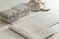 Convite clássico criado por Claudia Haddad.Fotos: divulgação