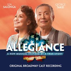 Preorder the Allegiance Original Broadway Cast Recording through. Preorder the Allegiance Original Broadway Cast Recording through Broadway Records for a January 22 release! It will release digitally and WORLDWIDE on January PRE-ORDER TODAY! New Broadway Musicals, Tony Winners, Lea Salonga, Miss Saigon, Music Articles, What Makes A Man, Japanese American, Allegiant, My Collection