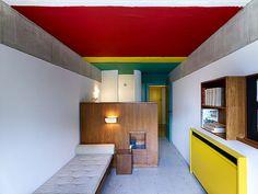 Le Corbusier - Maison du Brésil, Paris 1958 impression d'espace ds petite chbre : utiliser du mobilier minimal