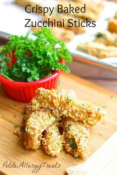 Gluten Free Vegan Breaded Zucchini Fries| PetiteAllergyTreats- #glutenfree, #dairyfree, #eggfree
