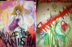 courtney love paintings - Google Search