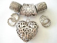 Scarf Jewelry Necklace Pendant Heart Shape For Jewelry Scarf Sold 1 Set 4 Day Delivery