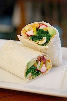 crunchy veggie hummus wrap #lunch