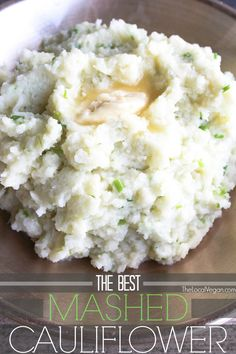 This is an amazing substitute for mashed potatoes! The Best Mashed Cauliflower * 1 lb bag) of frozen cauliflower florets * 2 tbsp vegan butter, I use earth balance * 1 clove of garlic, minced or grated. * Salt and pepper * 2 tbsp fresh . Raw Food Recipes, Vegetable Recipes, Low Carb Recipes, Vegetarian Recipes, Cooking Recipes, Lunch Recipes, Best Healthy Recipes, Vegan Vegetarian, Cooking Bacon