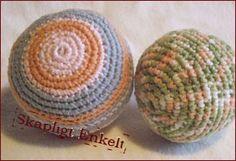 Gratis mönster: Virkad boll eller chokladboll (Svenska)