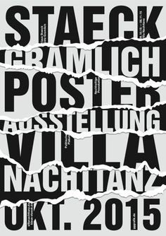Klaus Staeck and Götz Gramlich (gggrafik) poster exhibition at Villa Nachttanz, 2015
