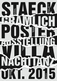 Klaus Staeck and Götz Gramlich (gggrafik) poster exhibition at Villa Nachttanz, 2015