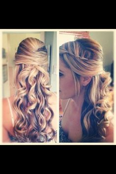 Adorable long hair style!